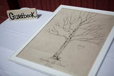 Custom Listing Fingerprint Tree  Wedding Guestbook  by BurlapBabe, $60.00
