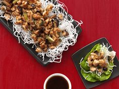 Get this all-star, easy-to-follow Almost-Famous Chicken Lettuce Wraps recipe from Food Network Magazine.