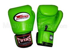 Twins Muay Thai Boxing Gloves : Lime