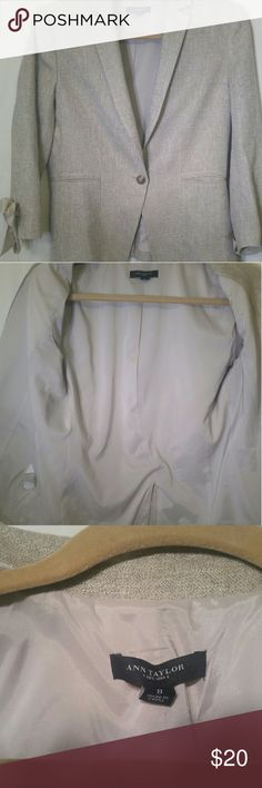 Ann Taylor blazer Business/casual blazer, bows at end of sleeves, looks new, no snags, no tears, no stains Ann Taylor Jackets & Coats Blazers