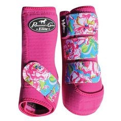 SMB Elite Sports Medicine Boot, Western Tack, Horse protection, aqha, Blossom/Raspberry
