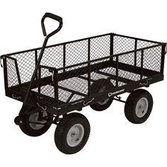 Strongway Steel Jumbo Garden Wagon — Capacity, x Garden Wagon, Wheelbarrow Garden, Garden Cart, Lawn Equipment, Tools And Equipment, Patio Blocks, Pull Wagon, Garden Power Tools, Decking Material