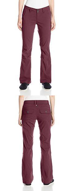 PrAna Women's Halle Short Inseam Pants, Size 6, Burgundy