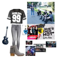 """""""5SOS She's Kinda Hot Music Video"""" by rikerlynchsbae ❤ liked on Polyvore featuring moda e GUESS"""
