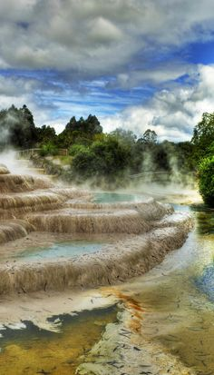 Wairakei Terraces, Bay of Plenty, North Island, New Zealand Places Around The World, Oh The Places You'll Go, Places To Travel, Places To Visit, Around The Worlds, New Zealand North, New Zealand Travel, Taupo New Zealand, Beautiful World
