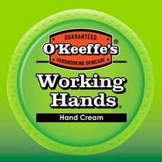 O'Keeffe's® Working Hands® Hand Cream is a concentrated hand cream that heals, relieves and repairs extremely dry, cracked hands. When used daily, O'Keeffe's® Working Hands® Hand Cream is clinically p