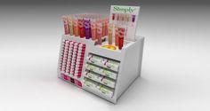Countertop Lip : Acrylic countertop lip Balm display Design POS POP Retail ...