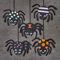 Halloween Arts And Crafts, Halloween Crafts For Toddlers, Halloween Crafts For Kids, Autumn Crafts For Kids, Halloween Art Projects, Spider Decorations, Diy Halloween Decorations, Spooky Decor, October Crafts