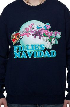 My Little Pony Faux Ugly Christmas Sweater  Fillies Navidad --- ponies AND  puns 08a12e232