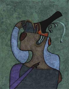 "lilithsplace: ""Masked woman, 1989 - Mihail Chemiakin (b. 1943) """