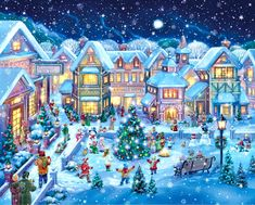 "Randy Wollenmann - ""Holiday Village Square"""