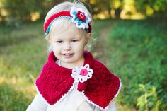 Knit girl gift set in red, kids knit gift, little girls set, hand knit for baby, cute outfit for kid, small girl gift set, cute kids clothes
