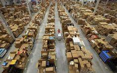 Fotos del interior de las bodegas de Amazon