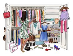 closet vintage illustration - Buscar con Google