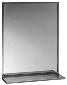 "Bobrick 166 Series 430 Stainless Steel Channel Frame Glass Mirror with Shelf, Bright Finish, 18"" Width x 30"" Height Bobrick http://www.amazon.com/dp/B00996T17O/ref=cm_sw_r_pi_dp_HOj2wb0HWBCG3"