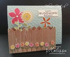 Stampin' Up! Flower Patch Flowerbox Card - FREE PRINTABLE TUTORIAL by Melissa Davies @rubberfunatics #stampinup #rubberfunatics