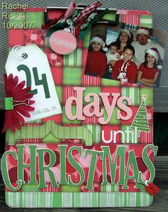 Christmas Countdown Clipboard