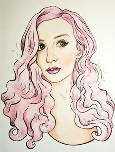 Watercolor, ink, and colored pencil illustration by JaimeShive.com