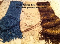 ♥LMW-MRS♥My gifts for the holidays for three of my sisters, the other two are got loom knitted shawls.  I crochet a hat and scarf set. It only takes me 2 to 3 hours to do a set. I love crocheting, I'm a visual crocheter, I can play with the needle even with my eyes close LOL.