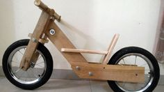 Bicicletta bimbi fatta di pallet, bike kids
