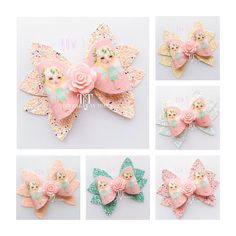 Fairy hair bow fairy hair clip party bag gift fairy hair