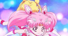 Sailor moon y chibimoon .