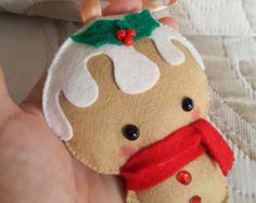 PDF Pattern - Gingerbread Cookie, Christmas Ornament Pattern, Felt Softie Sewing Pattern, Felt Ornament Pattern,Christmas gingerbread cookie