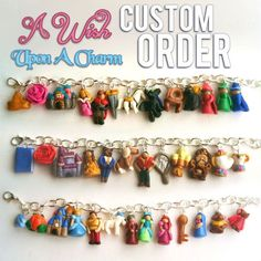 Custom ANY Character or Object, OPEN REQUEST Charm Bracelet! (Can be used for Necklaces as well!) Made from Polymer Clay
