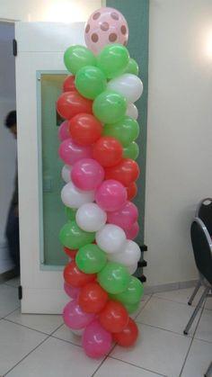 Coluna de Balões - Moranguinho Baby