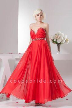 KYLA | A Type V-Neck Red Chiffon Bridesmaid Dress with Rhinestone | Cocosbride #girls#dresseswomen#perfect#bridesmaiddress#Cocosbride A Line Prom Dresses, Strapless Dress Formal, Evening Dresses, Party Dresses, Dress Prom, Ball Dresses, Dresses 2013, Prom Gowns, Quinceanera Dresses