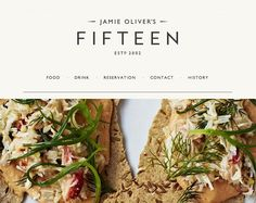 Jamie Oliver. Beautiful website http://www.fifteen.net/  20 Single Page Designs to Inspire You