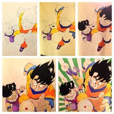 Dragonball Z color pencil study by Dirtloneous