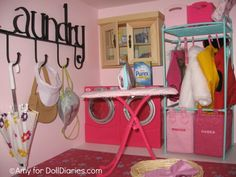 American Girl Size Doll House. Can't believe this is a doll house room!