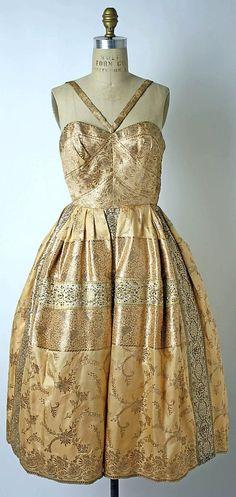 1950s vintage Mainbocher Dress, Evening by casandra