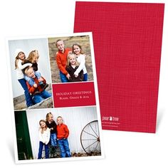 It's all about your photos and your favorite color with these multi-photo holiday photo cards. #photochristmascards #holidayphotocards #christmascards http://www.peartreegreetings.com/Holiday-Cards/Holiday-Photo-Cards/2775-5674HPFC-Classy-Collage--Holiday-Photo-Cards.pro