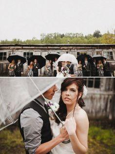 Naturellement, on ne le souhaite pas, mais s'il pleut le jour du mariage... voici quelques idées