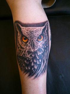 Realistic Owl Tattoo, Chicano, Tattoo Ideas, Skull, Cover, Tattoos, Tatoo, Portraits, Skulls