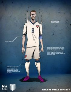 Fifa World Cup 2014 Amazing Football Player Illustrations - UltraLinx