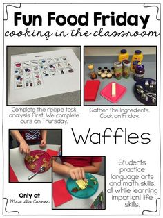 Fun Food Friday - A place for no bake recipes and cooking in the classroom. Learn how to cook in your classroom, only at Mrs. D's Corner! ( visual recipes )