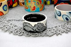 Hand Painted Bangle Bracelet by Bettineum on Etsy, $45.00