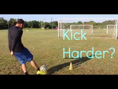 This video demonstrates how to kick the soccer ball with more power.