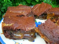 Marmite Caramel Brownies - a thoroughly delicious and decedent treat. Don't let the Marmite put you off.