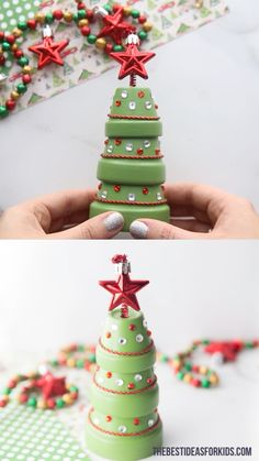 CLAY POT CHRISTMAS TREE Learn how to make this fun and easy terracotta Christmas tree. Use 3 terracotta pots and your choice of decorations to create a terracotta Christmas tree. Christmas Clay, Christmas Ornament Crafts, Christmas Crafts For Kids, Homemade Christmas, Diy Christmas Gifts, Simple Christmas, Holiday Crafts, Christmas Decorations, Christmas Activities