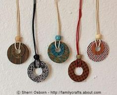 Make Jewelry and Decorations With These Amazing Shrink Plastic Art Tutorials: Make Shrink Plastic Washer Pendants