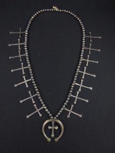 Antique Pueblo Cross Necklace