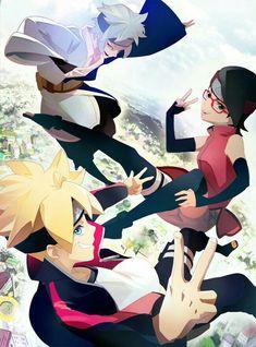 Mitsuki, Sarada y Boruto Naruto Uzumaki, Anime Naruto, Manga Anime, Naruto Gaiden, Boruto And Sarada, Naruto Art, Naruto And Sasuke, Naruto Team 7, Naruto Family