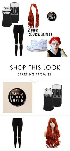 """""""my outfit"""" by moriah-303 ❤ liked on Polyvore featuring Converse and Miss Selfridge"""