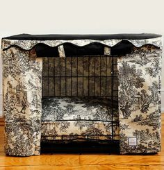Transform an ordinary metal crate into a den of luxury with this Toile Crate Cover & Bed.