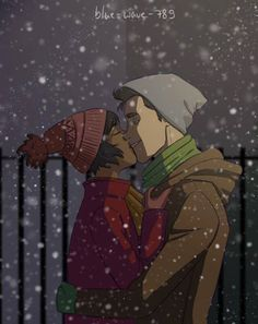 OpaL n' BoLin  #KISSING in the #Snow  <3