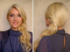 How to secure side swept curls